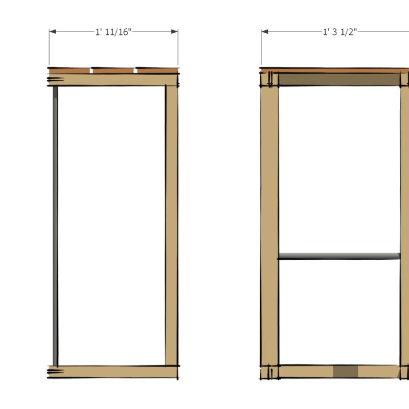 MAWT SLIM bar stool dimensions
